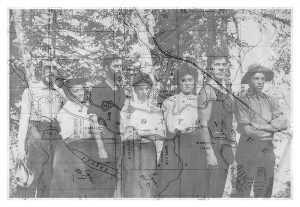 Family, 1906, with map